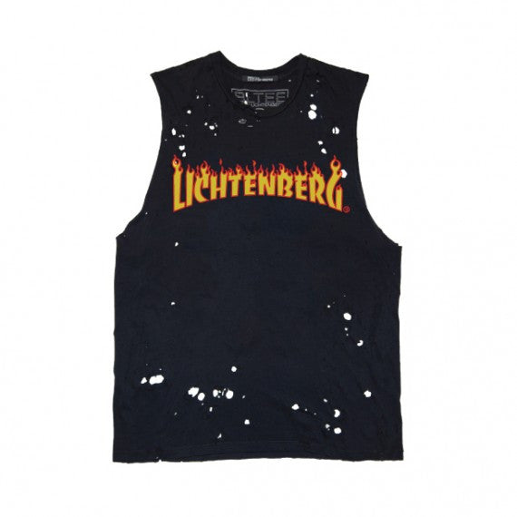 LICHTENBERG FLAMES DESTROYED MUSCLE TEE