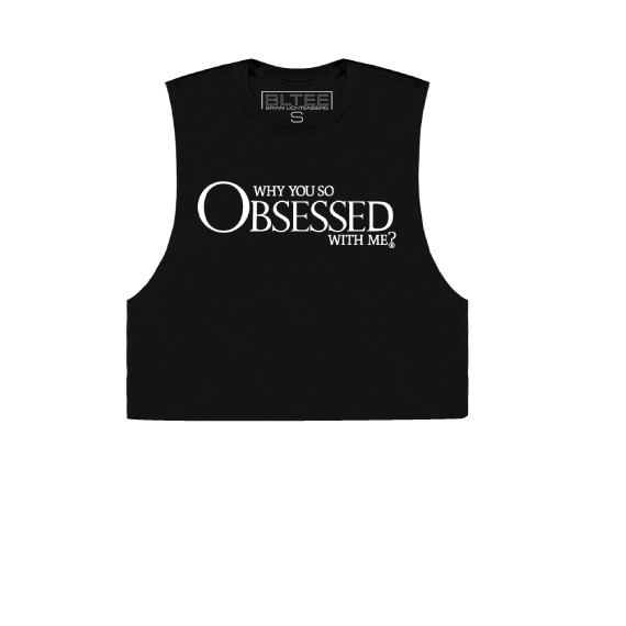 OBSESSED CROPPED MUSCLE TEE