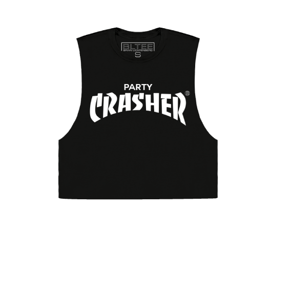 PARTY CRASHER CROPPED MUSCLE TEE