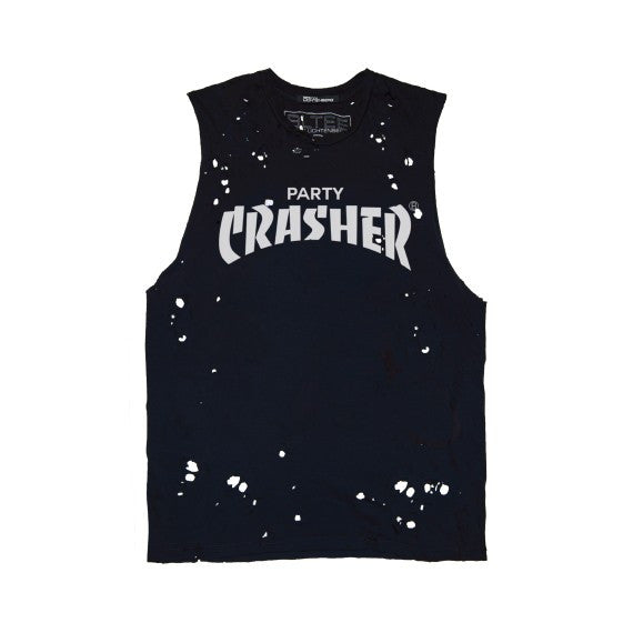 PARTY CRASHER DESTROYED MUSCLE TEE