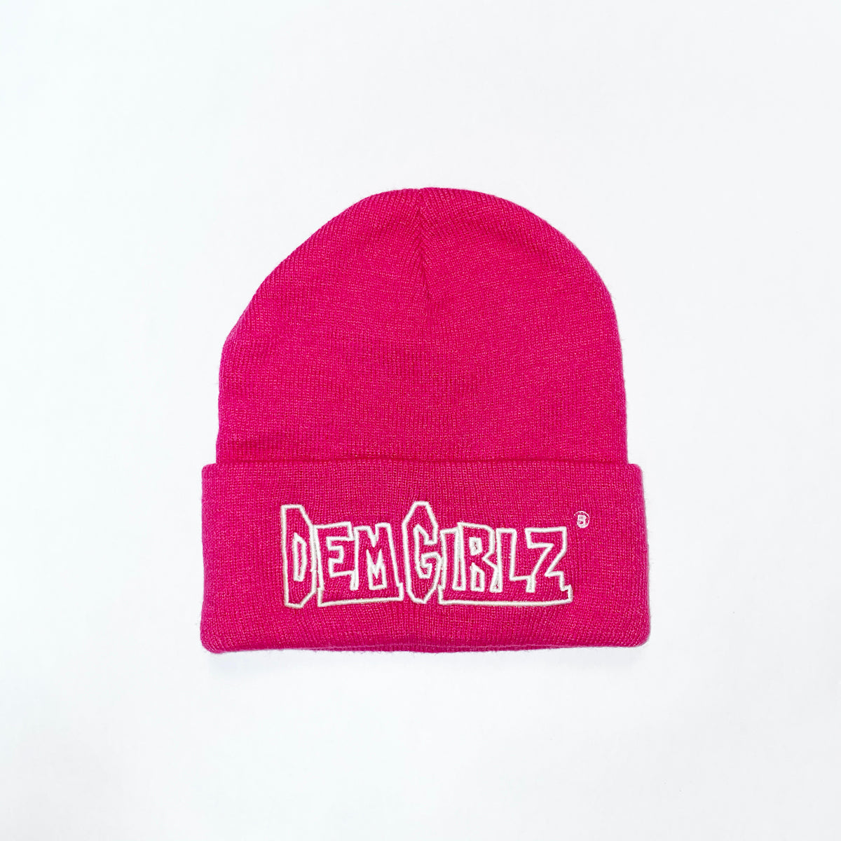 DEM GIRLZ HOT PINK BEANIE