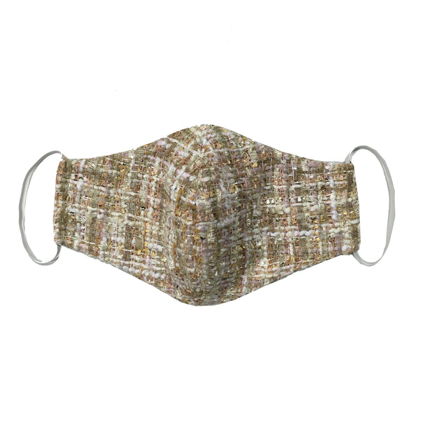 CREAM TWEED MASK