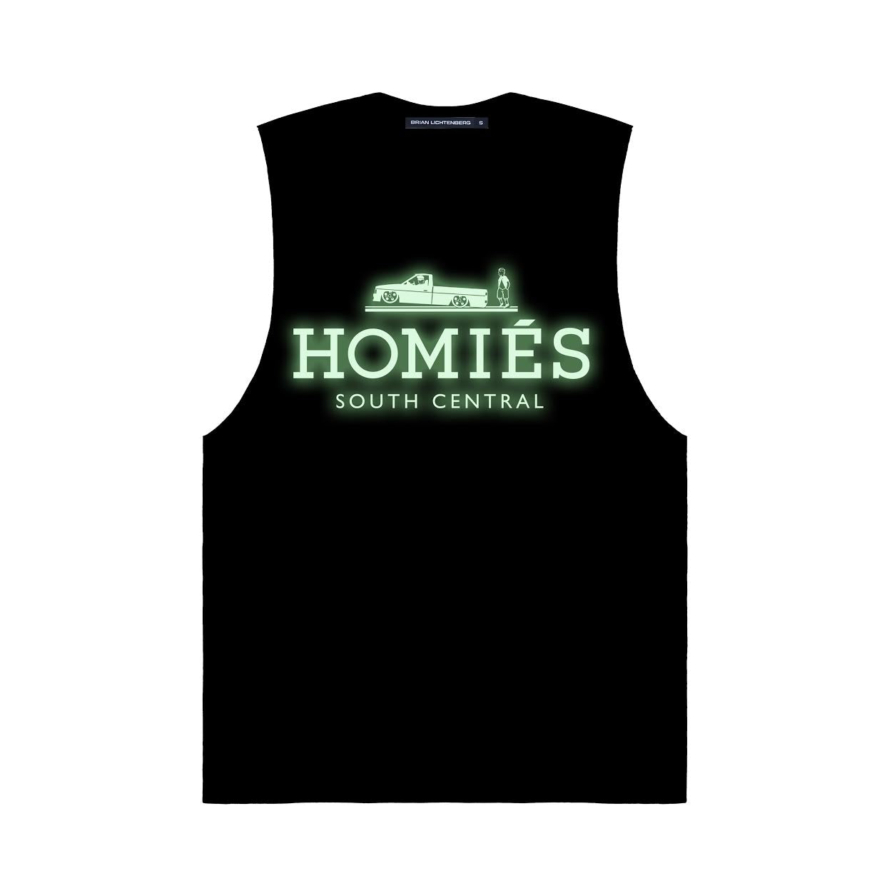 HOMIÉS GLOW-IN-THE-DARK MUSCLE TEE