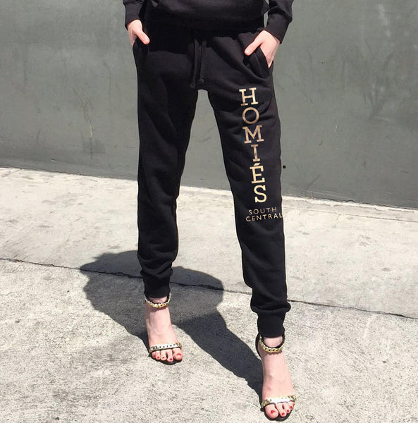 HOMIES GOLD FOIL SWEATPANTS