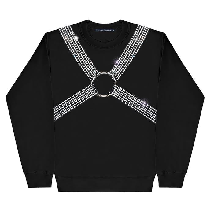 CRYSTAL HARNESS SWEATSHIRT