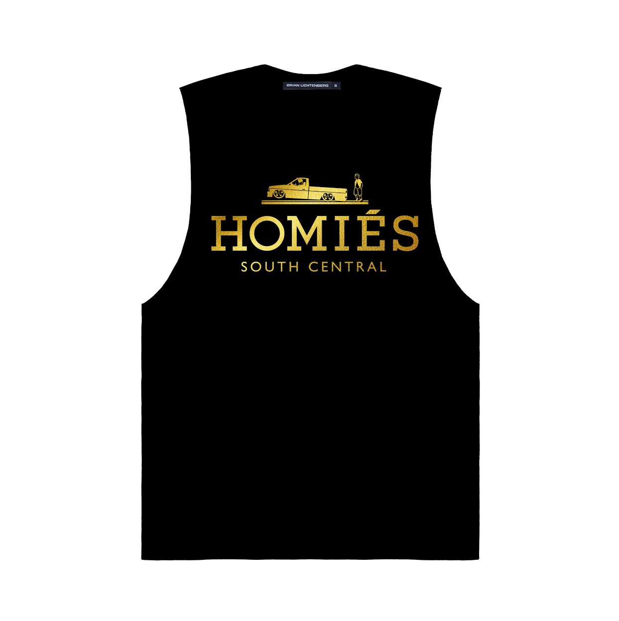 HOMIES GOLD FOIL MUSCLE TEE
