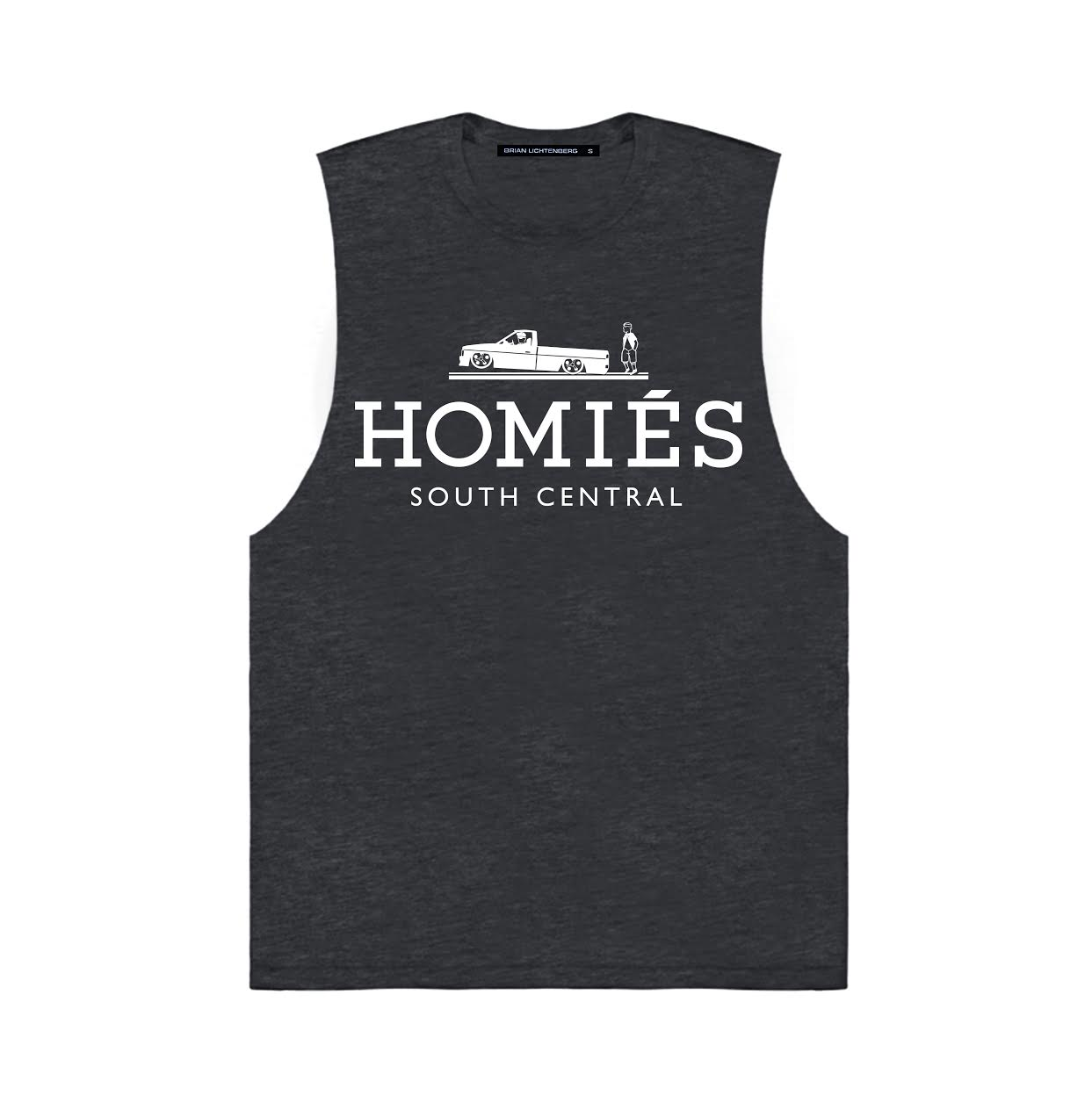 HOMIÉS CHARCOAL MUSCLE TEE