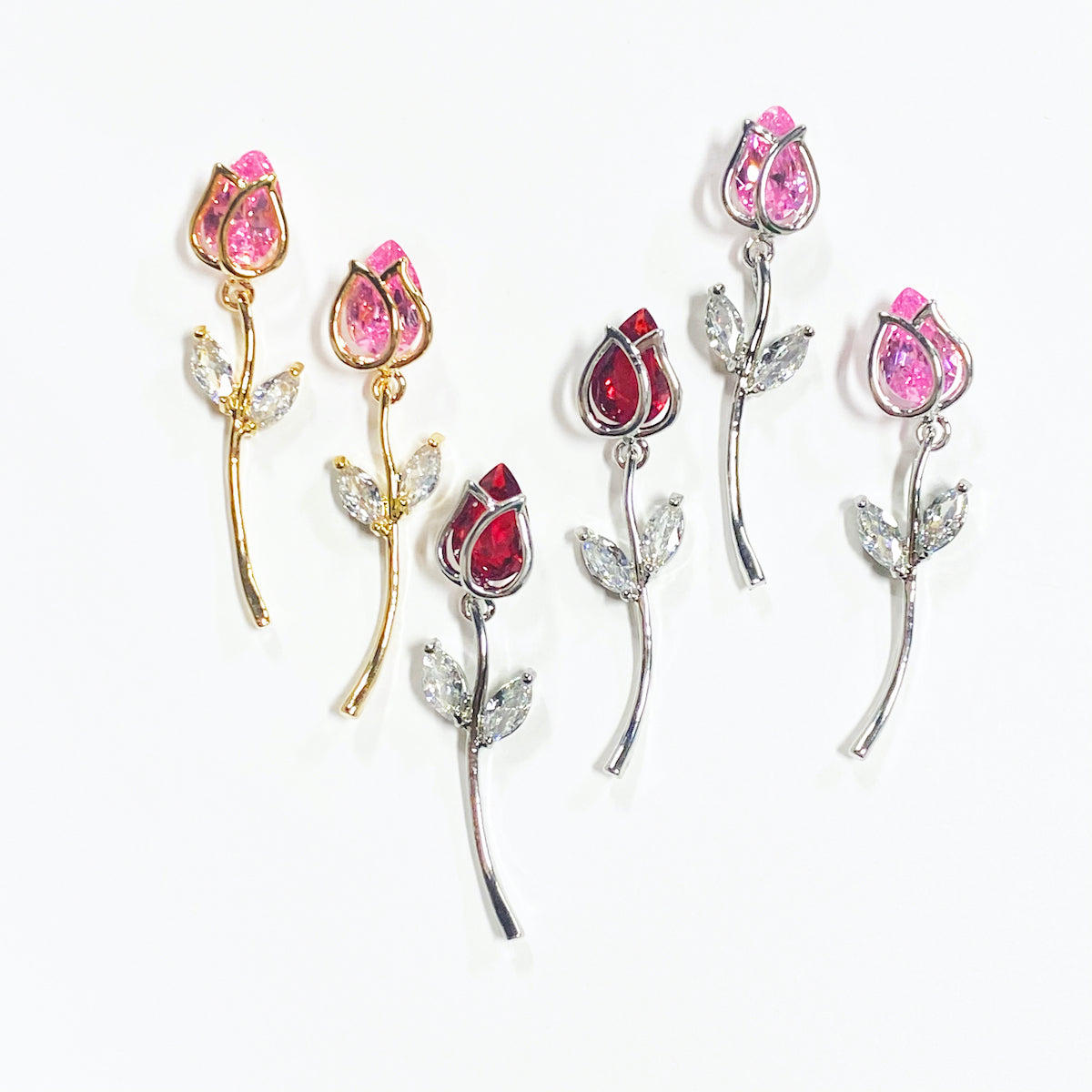 ROSE CRYSTAL EARRINGS