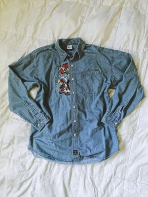 Vintage Looney Tunes Button Up Shirt