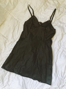 Vintage Black Slip Dress