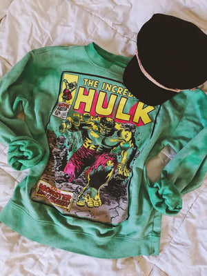 Incredible Hulk Tye Dye Sweatshirt