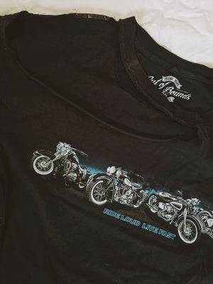 Ride Loud Live Fast Slashed Tee