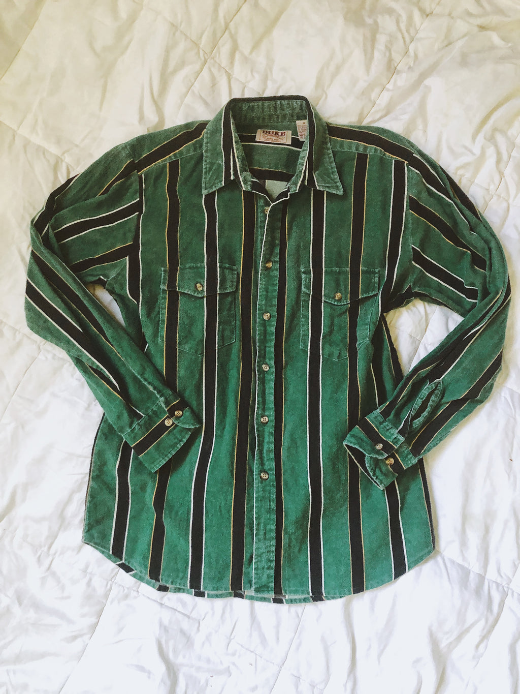 Vintage Striped Green Shirt