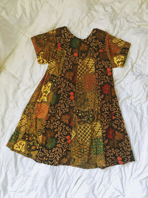 Vintage Multi Pattern Swing Dress