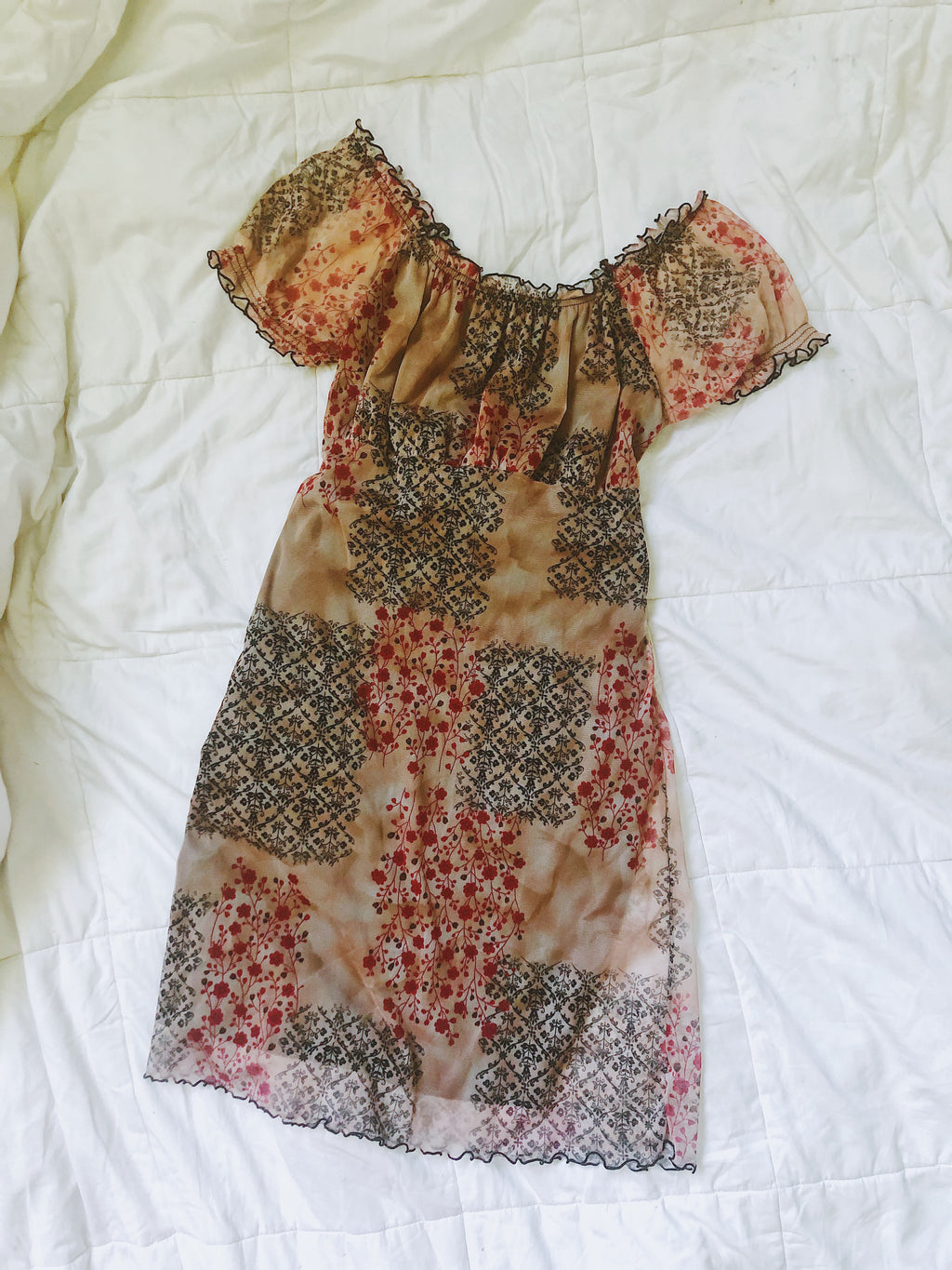 Vintage Multi Pattern Dress