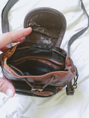 Mini Leather Convertible Bag