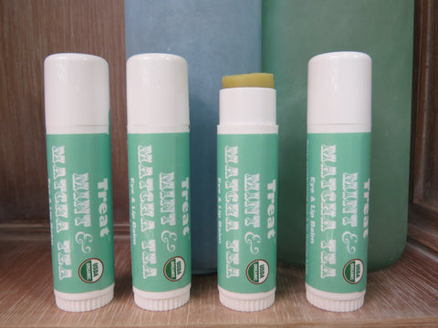 Treat Lip Balms, Mint & Matcha Tea