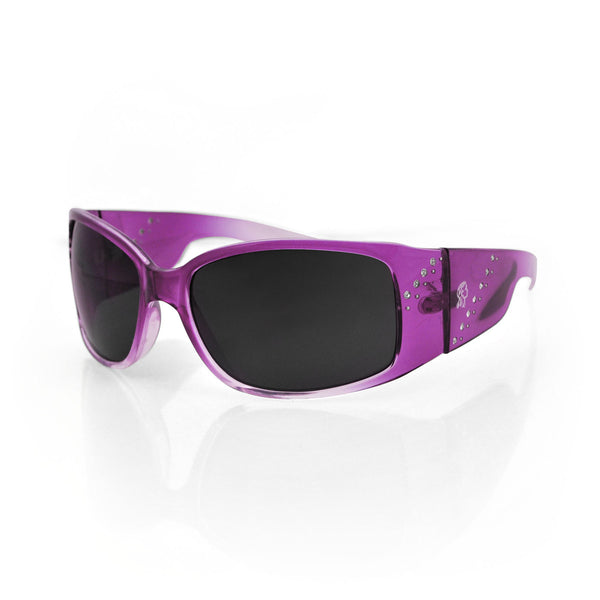 BOISE CRYSTAL PURPLE FRAME, SMOKED LENS SUNGLASSES - The Big Boy Store