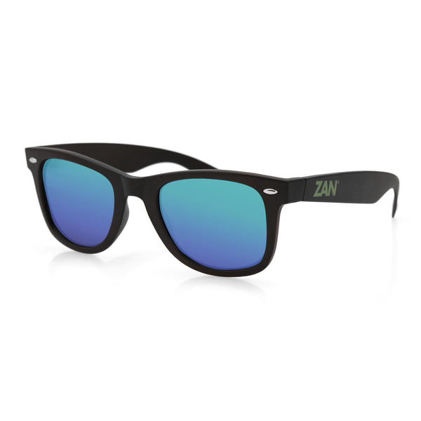 WINNA MATTE BLACK, SMOKED GREEN MIRROR LENS SUNGLASSES - The Big Boy Store