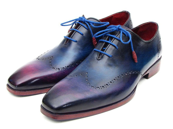 Paul Parkman Blue & Purple Wingtip Oxfords - The Big Boy Store