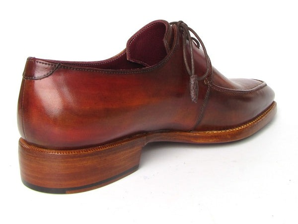 Paul Parkman Goodyear Welted Square Toe Apron Derby Shoes Brown - The Big Boy Store