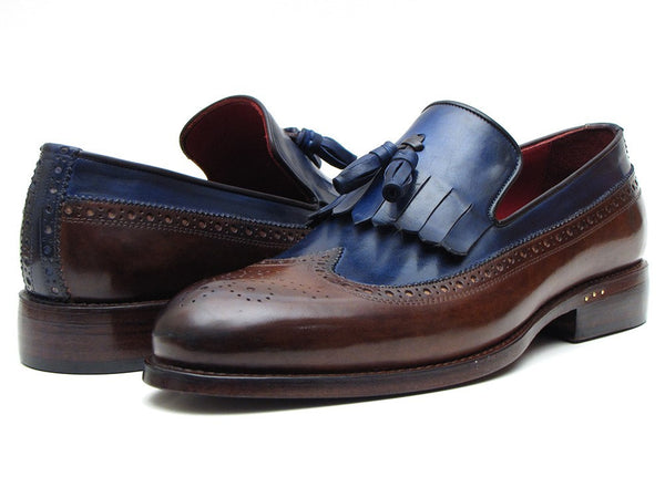 Paul Parkman Kiltie Tassel Loafer Dark Brown & Navy - The Big Boy Store
