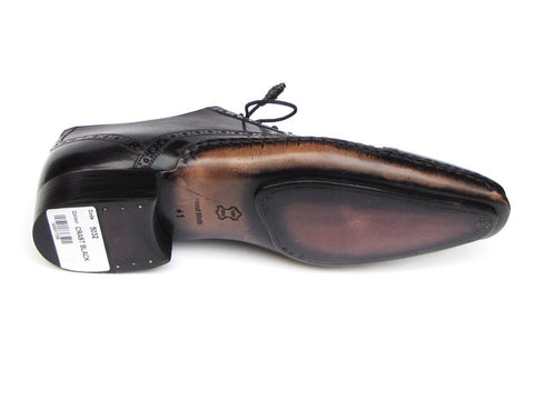 Paul Parkman Men's Captoe Oxfords Black Shoes - The Big Boy Store