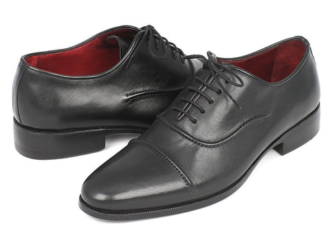 Paul Parkman Men's Captoe Oxfords Black - The Big Boy Store