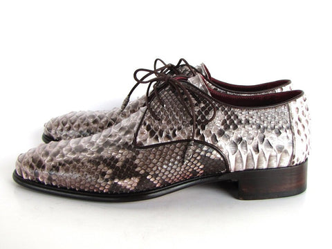 Paul Parkman Men's Natural Genuine Python (snakeskin) Derby Shoes - The Big Boy Store