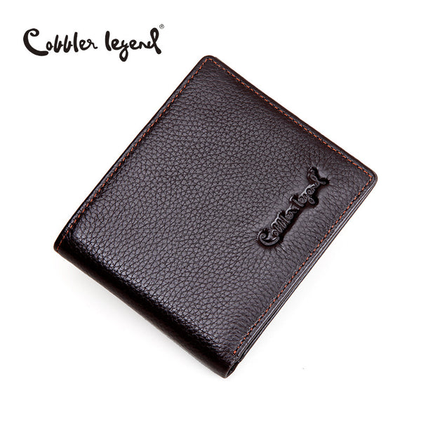 Cobbler Legend Brand Designer 2016 Real Leather Slim Men's Wallet Cow Leather Men Bifold Clutch Wallets Male Fashion Coin Purses - The Big Boy Store