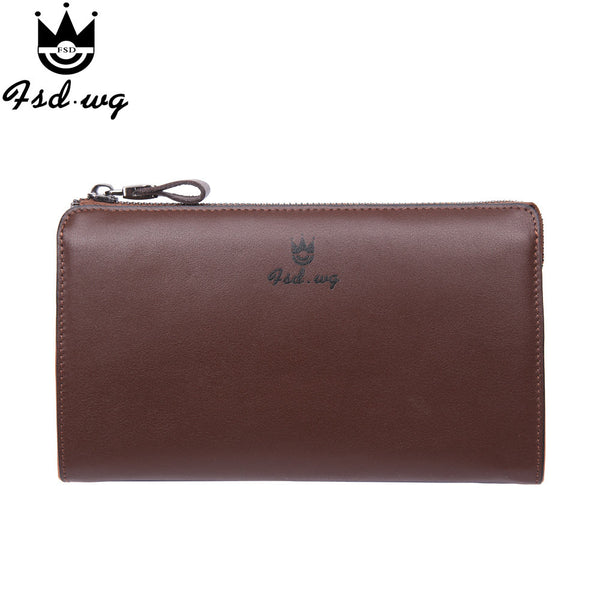 New men wallets leather genuine long designer mens wallets famous brand - The Big Boy Store