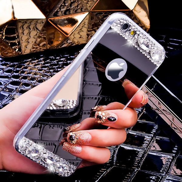 Fashion Bling Glitter Mirror Case For Apple iPhone 7 Plus 6 6S Plus 4.7& 5.5 5S SE Cases Slim Soft Diamond Crystal Phone Cover - The Big Boy Store