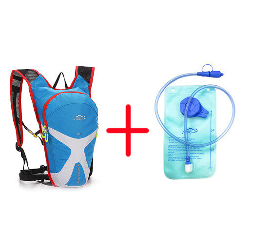 2L Water Bag+5L Outdoor Backpack 6 Color Camping Hiking Cycling Bag Hydration Water Bladder Bike Bicycle Backpack Pouch - The Big Boy Store