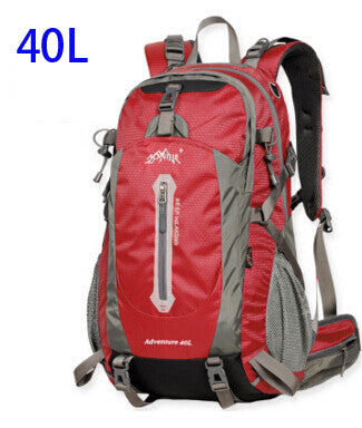 AONIJIE Outdoor Sport Travel Backpack Mountain Climbing Backpack 40L 50L Packsack Red Color