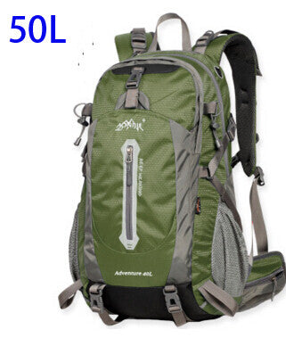 AONIJIE Outdoor Sport Travel Backpack Mountain Climbing Backpack 40L 50L Packsack Olive Green Color