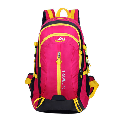 High Quality Nylon Waterproof Hiking Backpack Outdoor Sports Bag Red Color