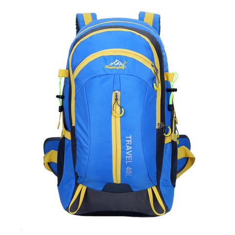 High Quality Nylon Waterproof Hiking Backpack Outdoor Sports Bag  Blue Color