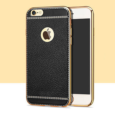7 Plus Luxury Litchi Grain Painting Soft TPU Back Cover Case For iPhone 7 5 5s SE 6 6s - The Big Boy Store