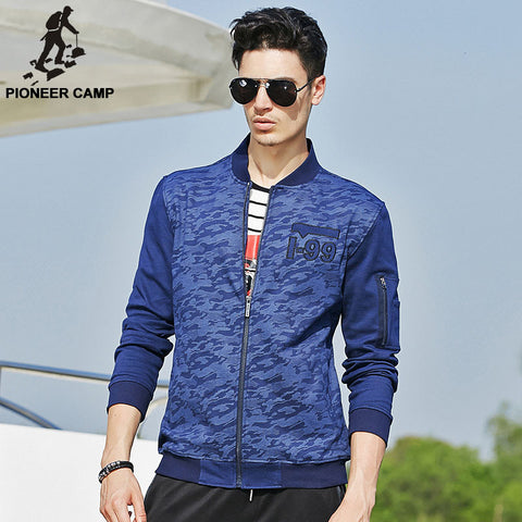 Quality Pioneer Camp Men's Blue Camouflage Jacket - The Big Boy Store