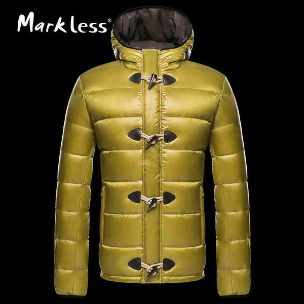Markless 2016 Men's Down Jackets Brand Clothing Mens Casual White Duck Down Hooded