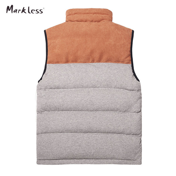Markeless 2016 Men Fashion Patchwork Down Vest Autumn And Winter - The Big Boy Store