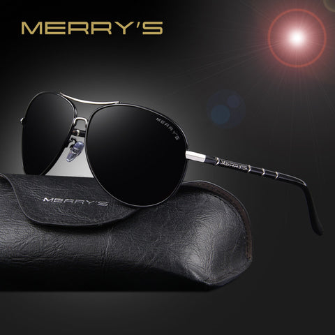 MERRY'S Classic Brand Aviation Sunglasses Men HD Polarized Aluminum Driving Luxury Design Mens Sunglasses Shades S'8766 - The Big Boy Store