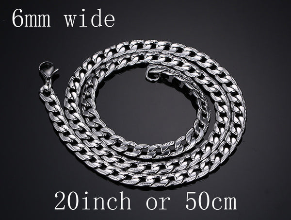 Fashion Stainless Steel Snake Chain 20/24inch Wholesale Chain Customized Jewelry Silver Plated Chains Necklace For Men Women - The Big Boy Store