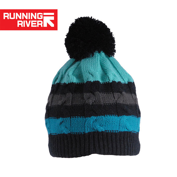 RUNNING RIVER Brand Skiing Hat For Men Striped Blue Cap Thermal Ski Hat New In 2016 Cap Free Size Acrylic Running Cap #Y4753 - The Big Boy Store