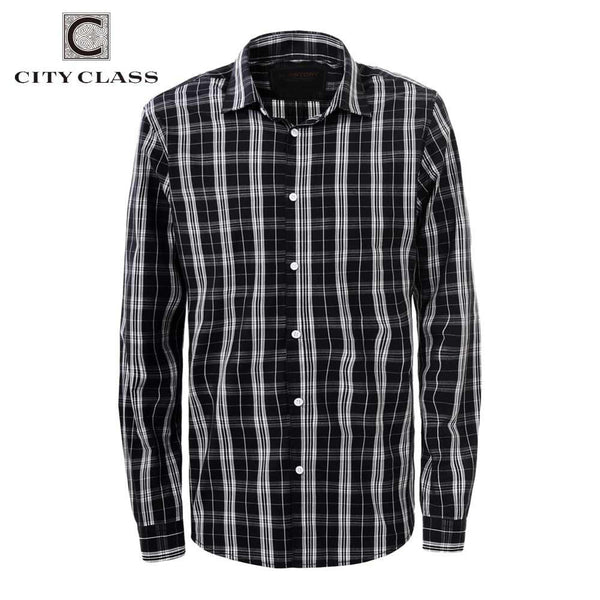 CITY CLASS 2016 men dress eu size business striped shirts formal office brand clothing camisa masculina multi-color 2967 - The Big Boy Store