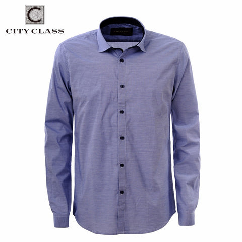 CITY CLASS 2016 men dress eu size shirt full sleeve business shirts formal office brand clothing camisa masculina 2985 - The Big Boy Store