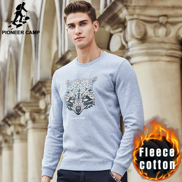 Pioneer Camp autumn winter fleece thick men hoodies sweatshirt top quality brand - The Big Boy Store