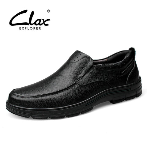 Clax Men Dress Shoe Genuine Leather Spring Autumn Men's Business Shoes Slip On Male Black Elegant Formal Loafer Luxury Brand - The Big Boy Store