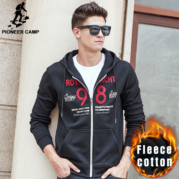 Pioneer Camp thick hoodie sweatshirts men brand clothing autumn winter - The Big Boy Store