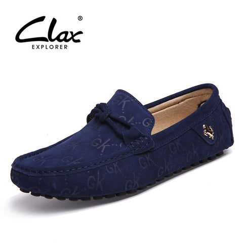 Clax Casual Men's Loafers Designer Flat Shoes Slip On Lofer Fashion Moccasin Male Brand Classic Suede Leather Footwear - The Big Boy Store